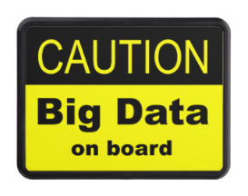 Big Data On Board warning signs. Check 'em out