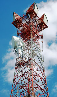 Rural towers lit with fiber optic bandwidth mean high speed service beyond the city limits...